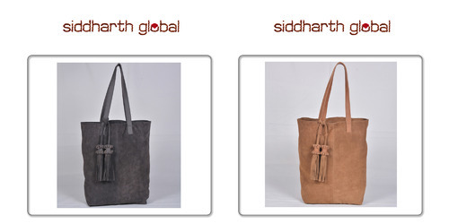 a23c647ede47 Fashion Leather Bags - Black Premium Leather Drawstring Tote Bag  Manufacturer from Delhi
