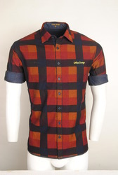 Red Checked Reversible Shirt
