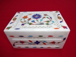 Alabaster Marble Inlay Box
