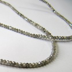 Milky White Grey Diamond Beads