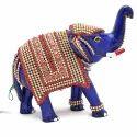 Meenakari Work Elephant Trunk Up MT099
