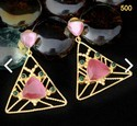 Hand Made Color Stone Earring