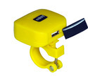 SHOT Bike Mobile Charger Yellow