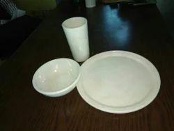 White Marble Dishware Handicraft