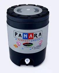 PANARA Grey Black Insulated Plastic Water Jugs, Capacity: 18 ltr