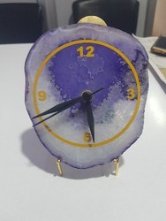 Table Agate Stone Clock