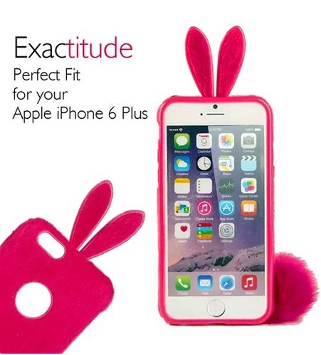 brand new 1dbb4 def7d Rabbit Ear TPU Back Cover Case For IPhone 6 / 6S Plus - Mobile ...