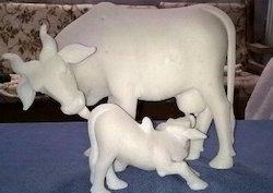 White Marble Cow
