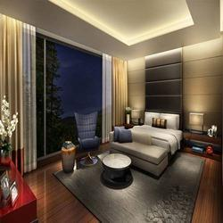 Optional Solid Wood MDF Sapele Veneer Interior Designing Services