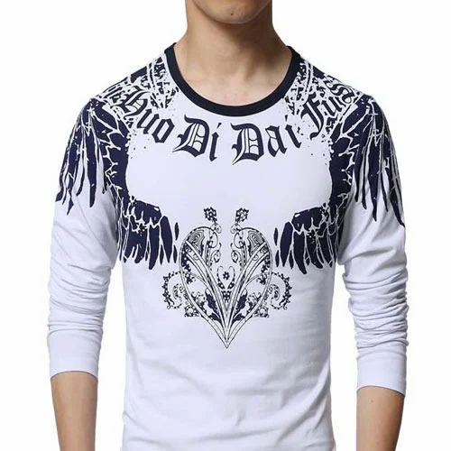 Cotton Round Men  s Designer T-Shirt 2e566883f765