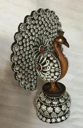 Wooden Dancing Peacock