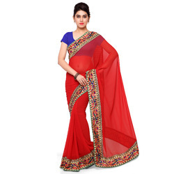 Fancy Designer Georgette Saree