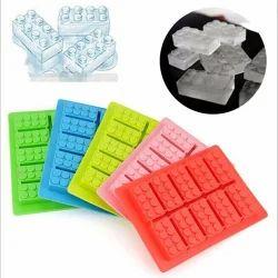 Set Of 2 Lego Bricks Silicon Jelly Chocolate Candy Ice Tray