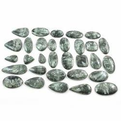 Seraphinite Cabochon Loose Gemstone Mix Lot