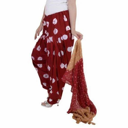 e27f36e678 Cotton Maroon And White Designer Printed Patiala Salwar With Dupatta ...
