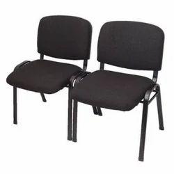 Black Fabric Mild Steel Frame Chair