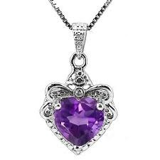 Amethyst Diamond Pendants