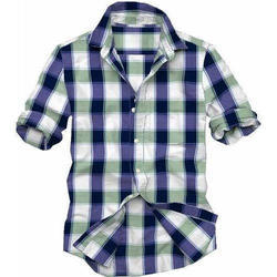 Men Check Shirt, Size: All Sizes