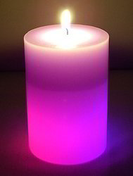 Round Color Changing Candle