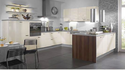 Pvc U Shape Designer Modular Kitchen