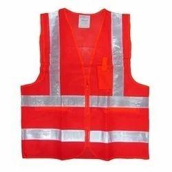 Plain Net Type Safety Jacket, Packaging Type: Single, Size: Medium
