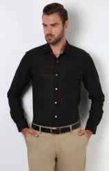 Peter England Black Men Casual Shirt