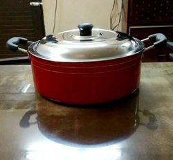 Aluminium Non Stick Cookware Casserole With Glass Lid - Size 260 MM