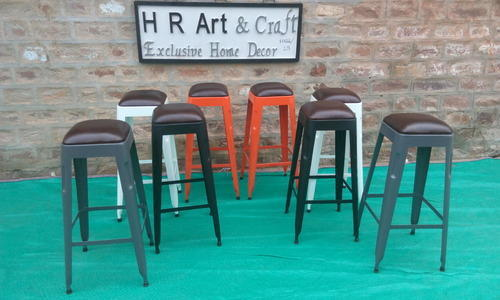 Metal Bar Stools With Leather Seat Height 23 Inch Id 13495053048