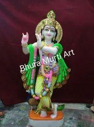 Krishna White Marble  Statue