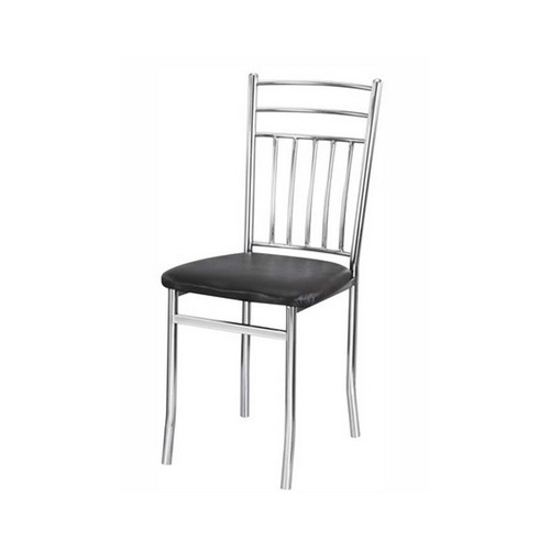 Black & Silver Steel Cafeteria Chair