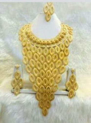 earring gold us set big necklace neck choker sets