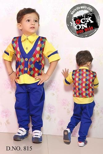 Trouser And Shirt Party Wear Kids Suit