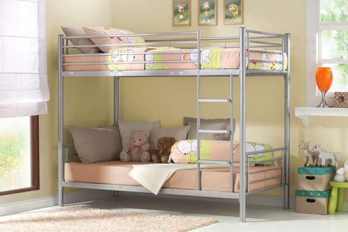 Silver color stainless steel bunk bed rs 13000 piece - Stainless steel bedroom furniture ...