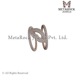 Designer Rose Gold White Diamond Rings