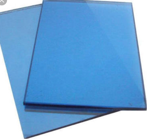 5mm blue reflective glass