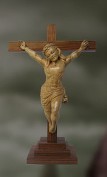 Jesus Christ Carved Wood Sculpture