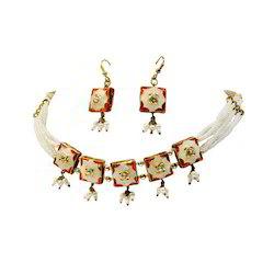 Jodhpuri Lacquer Jewelry Necklace Set 127