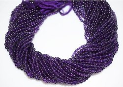 Amethyst Smooth Round Beads Strand