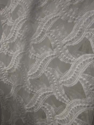 Dyeable Georgette Embroidered Fabric