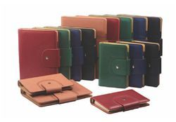 Button Flap Lock Corporate Leather Planner Diary