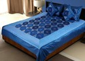 Silk Bed Cover Cushion N Pillow Covers Set 438