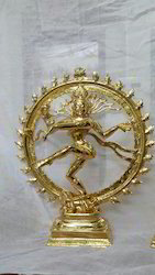 24 K Gold Plated Nataraja 10 Inches