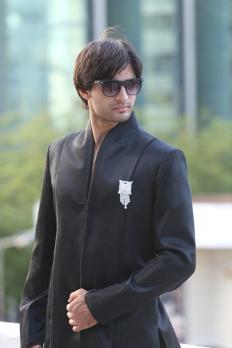 e0a11a0c5 Black Indo Western Sherwani at Rs 5077 /piece(s) | Indo Western ...