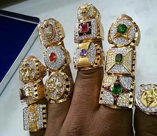 Men Gold Designer Ring And Ladies Gold Designer Ring