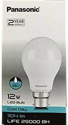 Round Cool Daylight Panasonic LED Bulb, Base Type: B22