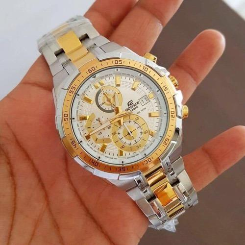 d2c38deedeb Golden Silver Casio Edifice Watches