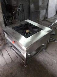 1 25 SS Single Burner Cooking Range, Model Name/Number: M4, Size: 24x24x24
