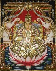 Mantap Gajalakshmi Tanjore Paintings