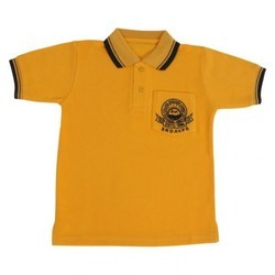Cotton Indolingal School T-Shirts, 4 To 9 Years