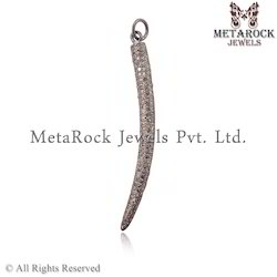 925 Silver Diamond Charms Pendant